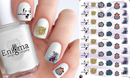 Sublime Nail Decals (Set of 50) (Clear Water-slide) (Sublime Fish)
