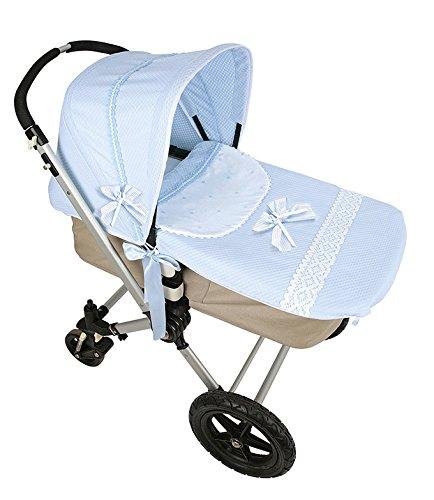 Colcha y capota para cochecito de bebe Bugaboo azul celeste ...