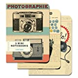 Cavallini Papers 4 by 5.5-Inch Notebooks, Mini, Vintage, Set of 3