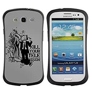 Hybrid Anti-Shock Bumper Case for Samsung Galaxy S3 / Deep Message Art