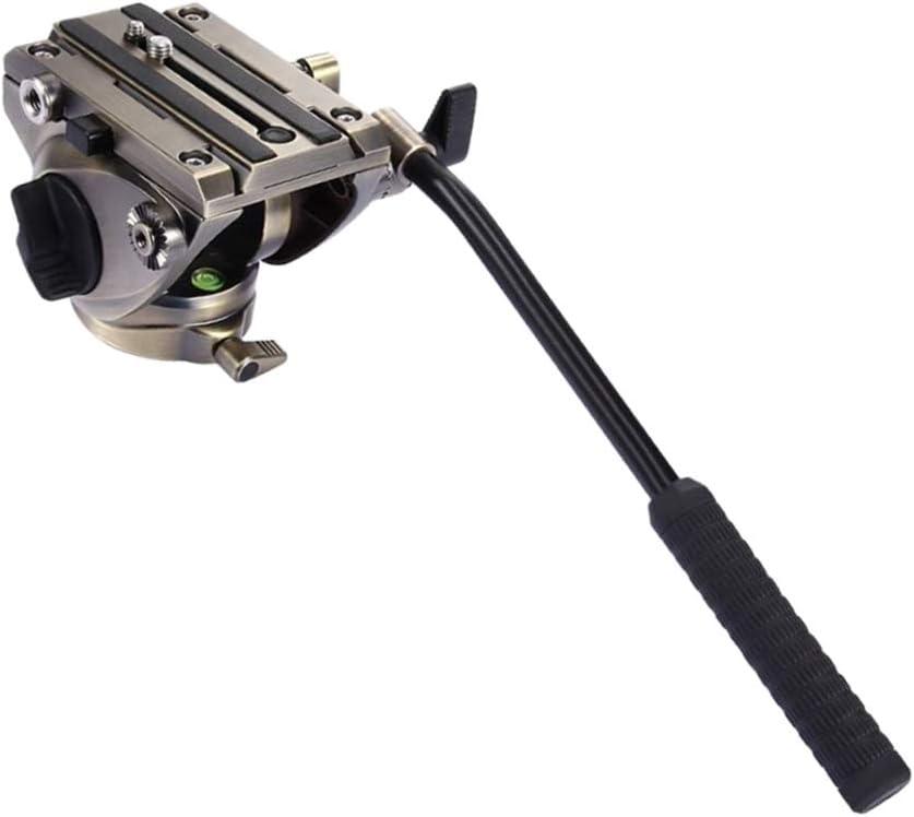 gazechimp PU3501 DSLR Heavy Duty Video Tripod Fluid Drag Head with Sliding Plate Gold