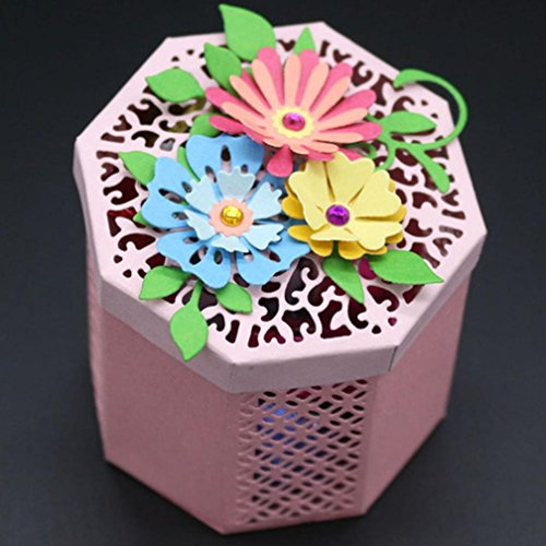 Sacow Cutting Dies, Flower Heart Metal Cutting Dies Stencils DIY Scrapbooking Album Paper Card Craft (H)