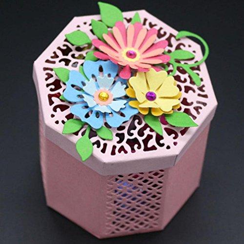 Sacow Cutting Dies, Flower Heart Metal Cutting Dies Stencils DIY Scrapbooking Album Paper Card Craft (H)