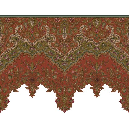 - Decorate By Color Paprika Paisley Border BC1581321