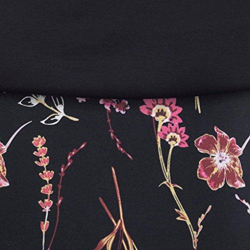 Verano la Mujer de Print sling vestido manera,Lady de mini Vestidos Impresión S vino Negro Tinto Beikoard 2018 wF4EEq