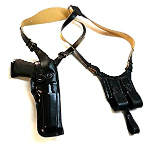 MASC HOLSTERS Premium Leather Vertical Shoulder Holster fits, Desert Eagle FITS All CALIBERS with 6'' Barrel, Right Hand Draw, Black Color #1089#