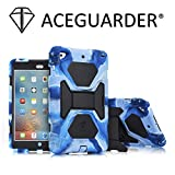 iPad Mini Case, ACEGUARDER Full Body Protective Rubber Cover (Scratchproof) with Screen Protector & Adjustable Kickstand for Apple iPad Mini 1 2 3 (Navy/Black)