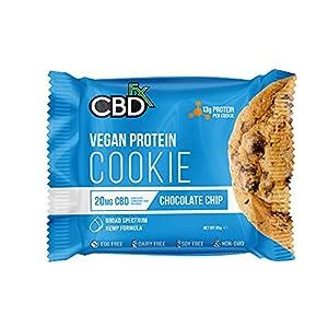 CBDfx Chocolate Chip Vegan Protein Cookie – ...