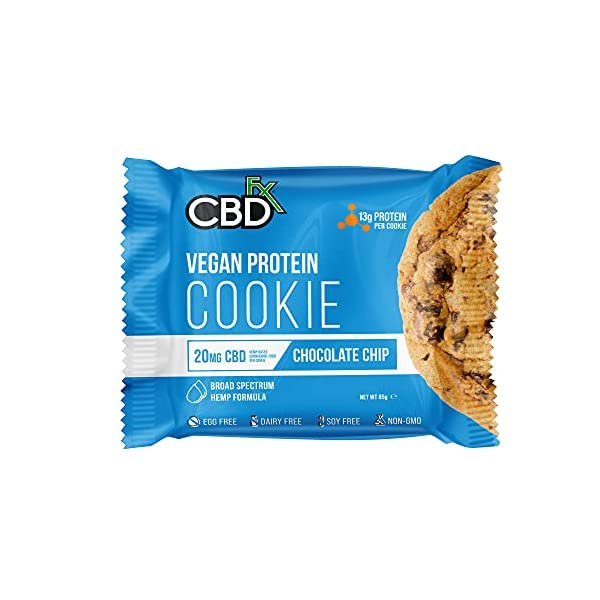 CBDfx Chocolate Chip Vegan Protein Cookie – 20mg CBD