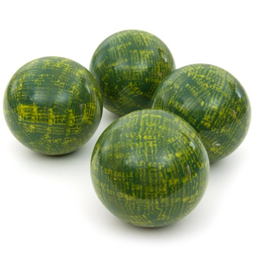 Oriental Furniture 4'' Green Porcelain Ball Set by ORIENTAL FURNITURE