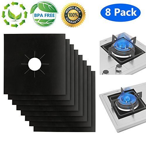 Philonext 8 Pack Gas Range Protector, Stove Burner Covers Protectors, Stovetop Liners Reusable Gas Range Protectors, Stovetop Burner Protector Liner Cover,10.6