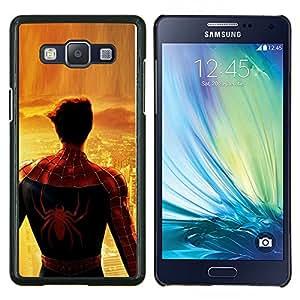 Qstar Arte & diseño plástico duro Fundas Cover Cubre Hard Case Cover para Samsung Galaxy A5 A5000 (Araña Superhero City)