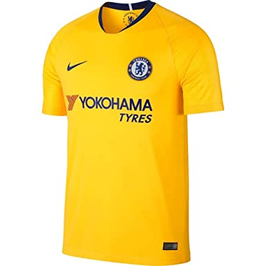 4a4e9f06910 Nike 2018-2019 Chelsea FC Stadium Away Jersey (Tour Yellow) (S)