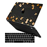 MacBook Pro 13 Case 2019 2018 2017 2016 Release A2159/A1989/A1706/A1708, iCasso Hard Case Shell and Keyboard Cover for Apple New MacBook Pro 13' with/Without Touch Bar and Touch ID,Honeycomb