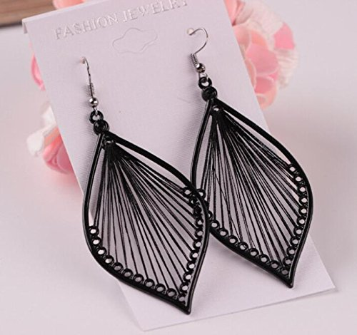 Toponly Temperament Exaggerated Earrings Fashion Sleek Trend Silver Matte Bohemian Geometric Pendant Stud by Toponly (Image #2)