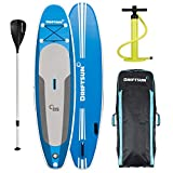 Driftsun Explorer Ultimate Inflatable Paddleboard Package with Travel Backpack, Adjustable Paddle, Coil Leash - 10 Length 6 Inch Thick
