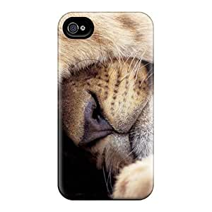 Excellent Design Sweet Sleeping Lion Case Cover For Iphone 4/4s