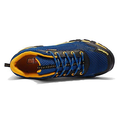 Scarpe Da Uomo Traspiranti Leggero Antiscivolo In Pizzo Casual Sport Allaria Aperta Da Passeggio Escursionismo Sneaker Blu Scuro