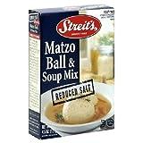 Streit's Matzo Ball Soup, Reduced Salt, 4.5-Ounce Units (Pack of 12)