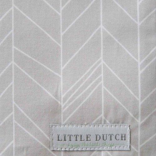 40x40 cm LITTLE DUTCH 5135 Kissen grey leaves Gr/ö/ße