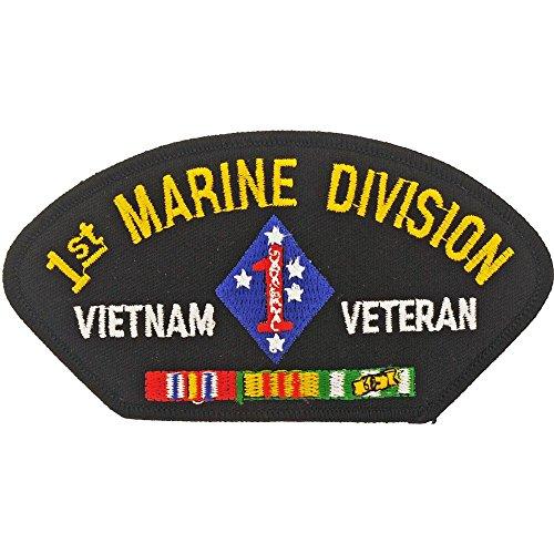 (U.S.M.C. 1st Marine Division Vietnam Veteran Hat Patch)
