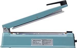 Eletional 12 inch Impulse Bag Sealer,Manual Bag Sealer Heat Seal Closer,2 Free Replacement Kit