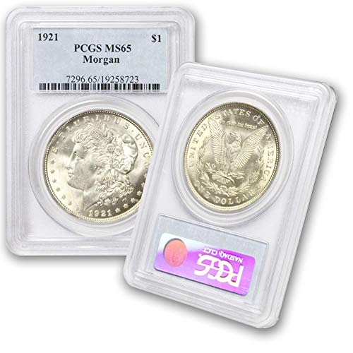 1921 P Morgan Silver Dollar $1 MS65 PCGS