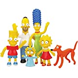 : The Simpsons Bendable-Poseable Limited Edition 6-Piece Collectible Set - Series 1