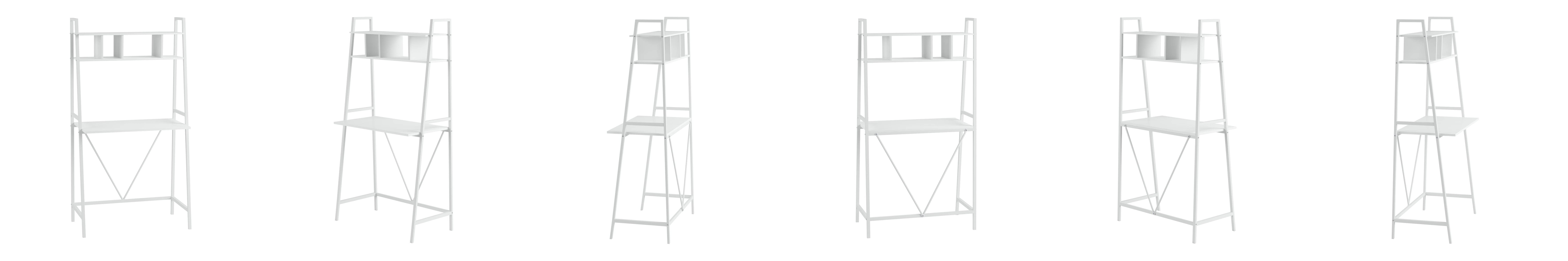 two leaning storage ladder bookcase monarch with bookcases specialties inch stora cappuccino drawers shelf