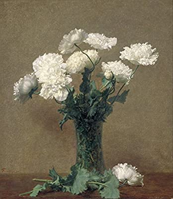Poppies By Henri Fantin-Latour. 100% Hand Painted. Oil On Canvas. Reproduction. (Unframed and Unstretched).