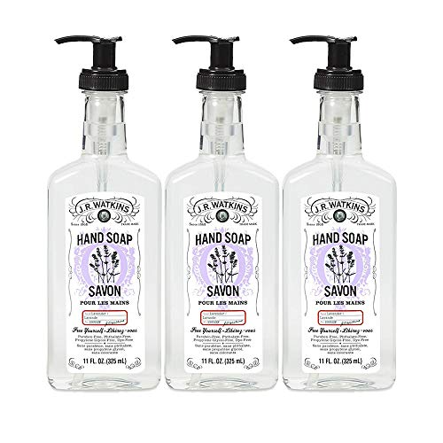 J.R. Watkins Hand Soap, Gel, 11 fl oz, Lavender (3 pack)