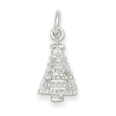 Amazon Com Sterling Silver Christmas Tree Charm Jewelry - Christmas Tree Charms