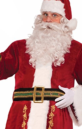Forum Novelties Men's Deluxe Santa Belt, Black, One Size -