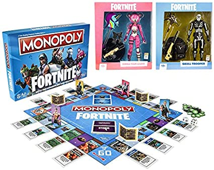 Amazon Com Monopoly Fortnite Edition Board Game Inspired By