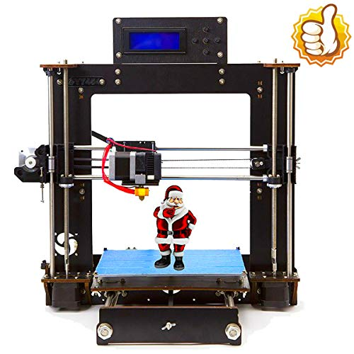 Perfect-Office DIY Printer i3 MK8 High Precision Self-Assembling Nozzle Desktop DIY 3D Printers with 1.75mm ABS/PLA Filament, Print Size (200 200 180mm) (i3 DIY) (Black)