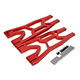 RCAWD Suspension Arm Left&Right A-arm Front Rear Lower 7730 Aluminum Alloy Rc Hobby Car 1/6 Traxxas X-MAXX 2Pcs(Red)