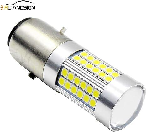 GLL 1pc BA20D LED Phare CPS 1860 4SMD H616 Haut//Bas Faisceau Phare De Moto Ampoules 1500 Lumens 6500K