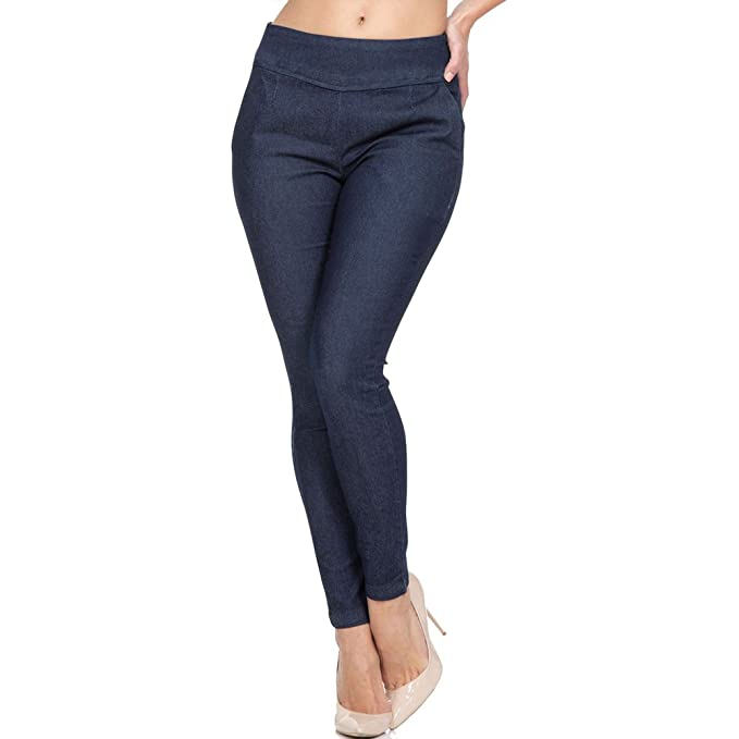 1960s Inspired Fashion: Recreate the Look Denim Cigarette Pants Blue $42.99 AT vintagedancer.com