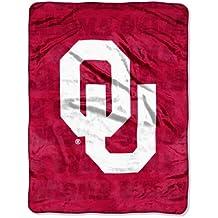 "NCAA Oklahoma Sooners Grunge Micro Raschel Throw, 46"" x 60"""