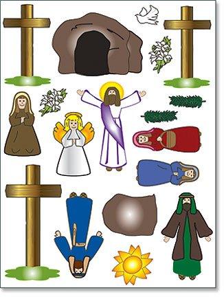 Religious Easter Gift He Has Risen Christ Resurrection Scene 18 Piece Magnet Set
