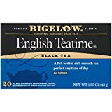 Bigelow English Teatime Tea 20 Bags (Pack of 6) Caffeinated Individual Black Tea Bags, for Hot Tea or Iced Tea, Drink Plain or Sweetened with Honey or Sugar