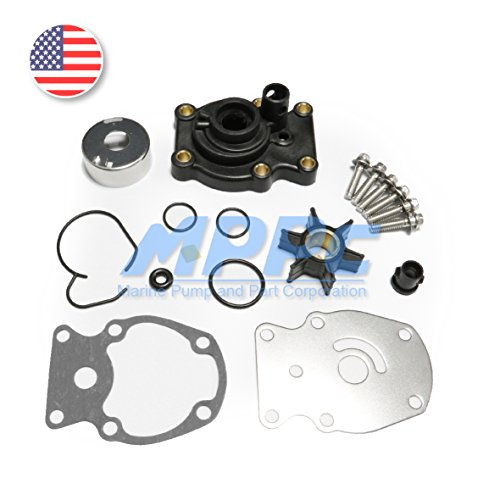 Full Power Plus Johnson Evinrude OMC Water Pump Kit With Housing Replacement (1980-UP) 20 25 30 35HP Sierra 18-3382 393630 0393630 Outboard Motor Parts (Outboard Omc Motor 1985)