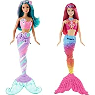 Barbie Mermaid Doll, Candy Fashion and Mermaid Doll, Rainbow Fashion Bundle