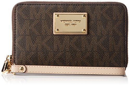 Michael Kors Jet set Large Flat Phone Case BROWN by Michael Kors