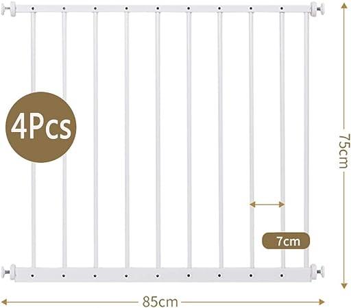 QIANDA Blanco Barrera de Seguridad Bebé Puerta de la Escalera Protector De Ventana Extra Ancho Barandilla del Balcón Sin Perforar Seguridad Infantil Balaustre De Acero, Blanco (Size : 187-284cm): Amazon.es: Hogar