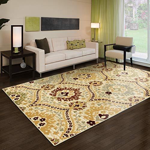 Superior Designer Augusta Area Rug, 6' x 9', Camel (5 Feet And 6 Inches In Cm)
