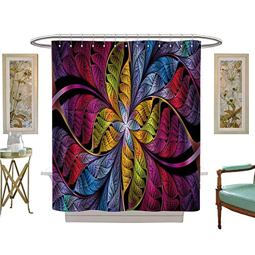 Ohio State Buckeyes Stained Glass - luvoluxhome Shower Curtains 3D Digital Printing extraordinarily Stained Glass Leaves are Fabulous Plants Bathroom Accessories W69 x L84