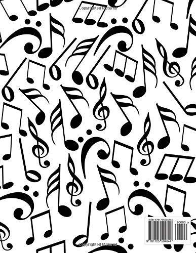 Amazon Com Blank Sheet Music Notebook Large Tablature Manuscript