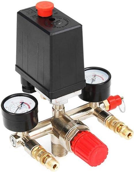 Presostato del compresor de Aire 90-120PSI Manómetro del regulador ...