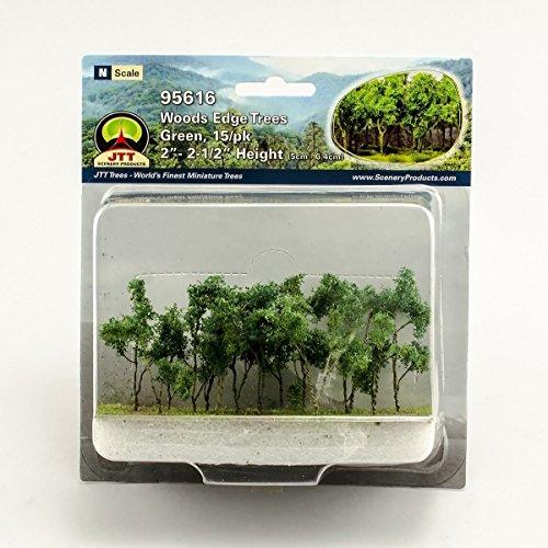 2' Scale Miniature (Woods Edge Trees Green 2'' to 2.5'' N-scale 15/pk)